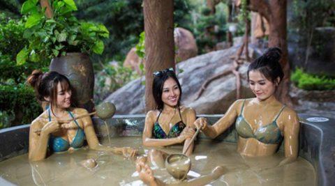 Cách tắm bùn khoảng hiệu quả tại Hamya hotsping and resort